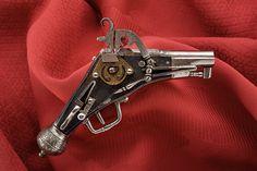 All metal miniature wheellock pistol.