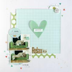 A Day To Remember Mini Album  Felicity Jane Februar KitRelax   Scrapbooking Layout  Felicity Jane Januar Kit