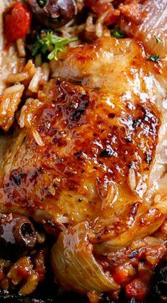 One-Pot Italian Tomato Chicken and Rice