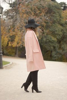 BLACK AND WHITE DRESS WITH PINK COAT BeSugarandSpice waysify