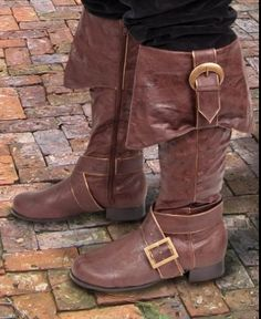 MEDIEVAL LEATHER BOOTS LARP RENAISSANCE VIKING PIRATE SHOE