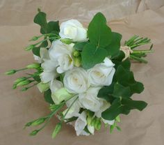 White rustic wedding bouquet by Peamore Flora