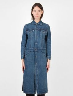 Helmut Lang Denim Trench Medium Blue