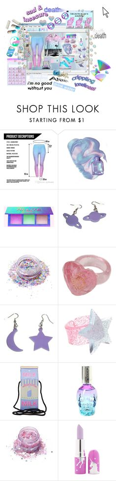 """""""✰☆Sad & Insecure☆✰"""" by lim-er-ence ❤ liked on Polyvore featuring Y.R.U., Lunautics, ASOS, Hot Topic, FromNicLove and Lime Crime"""