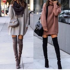 Great outfit idea to copy ♥ For more inspiration join our group Amazing Things ♥ You might also like these related products: - Dresses ->. Cute Fall Outfits, Casual Winter Outfits, Winter Fashion Outfits, Look Fashion, Trendy Outfits, Autumn Fashion, Sexy Fall Fashion, Winter Outfits 2019, Winter Dresses