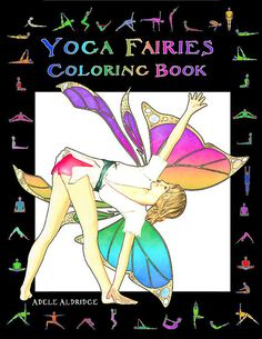 A detailed yoga fairy coloring book printable by YogaFairyColoring