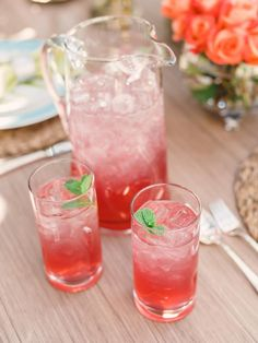 Specialty Drinks - 12 Tips for Hosting an Outdoor Spring Party on HGTV. Here's a refreshing non-acholic drink.