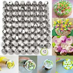70pcs Tulip Flower Icing Piping Nozzles Pastry Cake Decor Tips Sugarcraft Tool