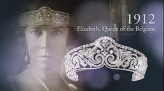 Elisabeth the her tiara used to advertise the Cartier exhibition in Paris