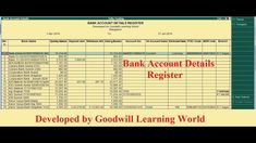 Tally TDL for Bank Details Register - Tally Add on for Bank Details Regi. Pastel Accounting, Accounting And Finance, Bank Account, Krishna, Printable, Coding, Ads, Detail, Learning