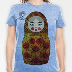 Flower Matryoshka/Nesting Doll T-shirt