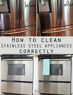 clean stainless steel appliances correctly Discover how to clean properly your stainless steel appliances.Discover how to clean properly your stainless steel appliances. Deep Cleaning Tips, House Cleaning Tips, Cleaning Solutions, Spring Cleaning, Cleaning Hacks, Cleaning Products, Cleaning Stainless Steel Appliances, Homemade Stainless Steel Cleaner, Stainless Steal Cleaner