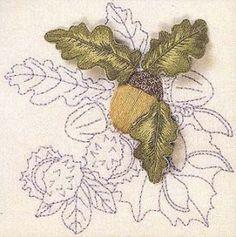 Autumn Fruits - Acorn Stumpwork from Wye Needlecraft