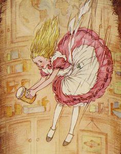 Alice Wonderland Lewis Caroll Book Children Story Vintage Illustration Illustrations Looking Glass