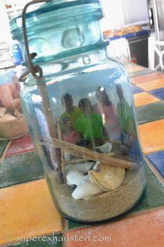 How to make Beach Memory Jars beach crafts
