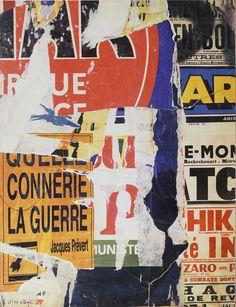 Lot : Jacques VILLEGLÉ (1926) - Quelle connerie la guerre - Sérigraphie... | Dans la vente Art Contemporain et Design à Tradart Deauville