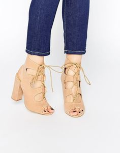 TRUFFLE COLLECTION Vela ghillie block heeled sandals found on Nudevotion