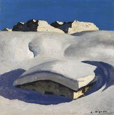 Alfons Walde - Verschneite Alm (1930) Ernst Ludwig Kirchner, Snow Place, Ski, Kunst Online, Museum, Art Auction, Beautiful Landscapes, My Images, Illustration