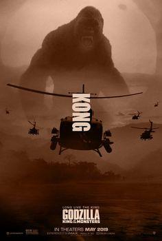 All Godzilla Monsters, Cool Monsters, Giant Monster Movies, King Kong Vs Godzilla, Fan Poster, Dragons, Skull Island, Drame, Fantasy Movies