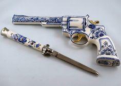 Porcelain Weapons by Charles Krafft. #charleskrafft http://www.widewalls.ch/artist/charles-krafft/