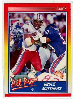 Football Trading Cards - 1990 Score Bruce Matthews
