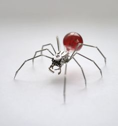 Clockwork Spider Sculpture No 42 Recycled Watch by amechanicalmind, $240.00