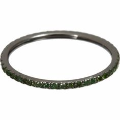 Ileana Makri Oxidized Gold & Green Diamond Threadband at Barneys.com