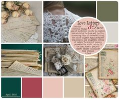 Love Letters & Lace Mood Board. Painted Planet Licensing Group #artlicensing