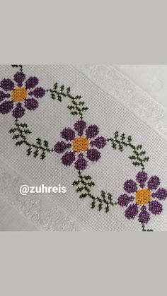 Cross Stitch Borders, Cross Stitch Flowers, Cross Stitch Designs, Hand Embroidery Design Patterns, Hand Embroidery Stitches, Blackwork, Pattern Design, Diy And Crafts, Kids Rugs