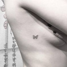 Be inspired by these mini tattoos. Butterfly tattoos Be inspired by these mini tattoos. Mini Tattoos, Oma Tattoos, Small Rib Tattoos, Little Tattoos, Trendy Tattoos, Cute Tattoos, Tatoos, Rib Tattoo Placements, Tiny Tattoo Placement