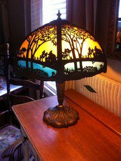 1930's,  Tiffany lamp