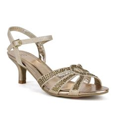 Dazzle everyone with these Shining Diamond Kitten Heel Slingback Sandals. With a 2-inch heel, these shimmering sandals add sparkle and glamour to your outfit while providing comfort.