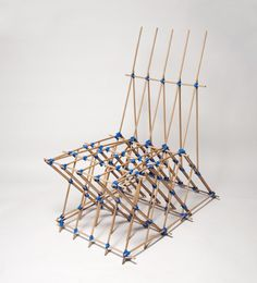 French designer Benjamin Mahler has created a chair using only dowels and elastic.
