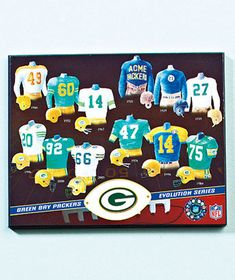 NFL Evolution Plaques