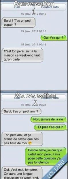 Surement moi un jour😂 - #jour #moi #sûrement Funny Insults, Funny Jokes, Funny Messages, Text Messages, Funny Images, Funny Pictures, What Makes You Laugh, Smile Images, Geek Humor