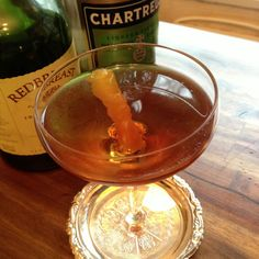 Tipperary 2oz Irish Whiskey  .75oz Sweet Vermouth  .5oz Green Chartreuse  Lemon Twist