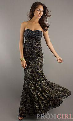 Strapless Elegant Floor Length Dress at PromGirl.com