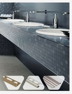 Schluter.com Metal Edging For Tile Installations   Use In Upstairs Bath  Instead Of Bullnose