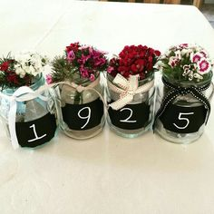 Add The Right Year For A Great 95th Birthday Party Table Decoration 75 Ideas