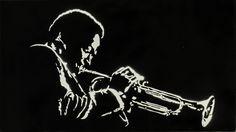 Miles Davis_Stencil su Tela/by felixx Jazz Art, Jazz Music, Miles Davis, Rock Design, Spray Painting, Photo Illustration, Art Techniques, Cartoon Art, Musicians