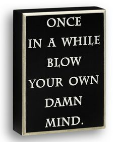 Look at this #zulilyfind! 'Once In A While' Wall Sign #zulilyfinds