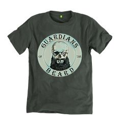 Guardians of the Beard Skull logo T Shirt  #beard #beards #bearded #tshirt #tshirtdesign #logo #beardlife #beardgroup