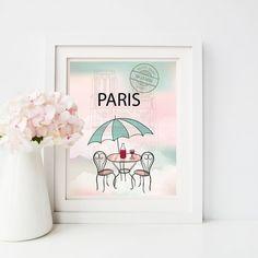 Paris Artwork Print/Instant Download/Nursery Artwork/Printable Digital file/8x10…