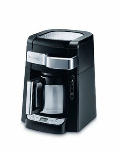 DeLonghi DCF2210TTC 10-Cup Thermal Carafe Drip Coffee Maker, Black - http://www.teacoffeestore.com/delonghi-dcf2210ttc-10-cup-thermal-carafe-drip-coffee-maker-black/
