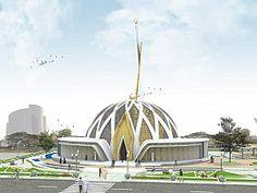 Eşdeğer 1. Ödül, Mehmet Kavuk Camii Konsept Yarışması Mosque Architecture, Modern Architecture Design, Concept Architecture, Futuristic Architecture, Building Concept, Beautiful Mosques, Futuristic City, Bungalow House Design, Church Design