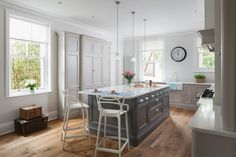 A beautiful In-frame bespoke kitchen design from Heathfield. From Jones Britain's exclusive range of furniture. Come in & visit the showroom to start your new project. Loft Storage, Cupboard Storage, Kitchen Paint, Kitchen Design, Traditional Radiators, Engineered Oak Flooring, Column Radiators, Patio Seating, Bespoke Kitchens