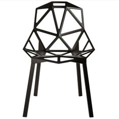 black home accents Magis Chair_One Stacking Chair, Sitz anthrazitgrau metallic lackiert, Beine Aluminium poliert Magis Chair One, Modern Furniture, Furniture Design, Outdoor Furniture, Leg Painting, Decoration Bedroom, Stacking Chairs, Black House, Chairs