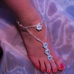 62 Ideas Diy Wedding Shoes Sandals Feet Jewelry For 2019 Diy Wedding Shoes, Beach Foot Jewelry, Wedding Jewelry For Bride, Bridal Jewelry, Wedding Ideas, Wedding Stuff, Dress Wedding, Wedding Bouquets, Beaded Anklets