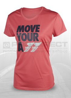 Nike Womens NA Chal Move UR A Top - Womens Running Clothing - Pink Clay-Thunder Blue-Reflective Silver