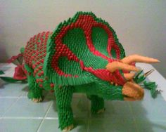 3d Origami Triceratops by dfoosdc on DeviantArt